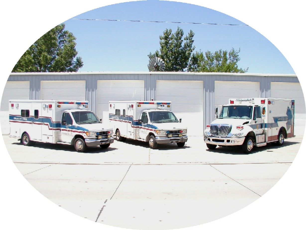 Three ambulances