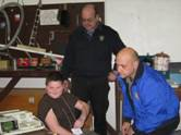 EMS personnel work with a child participant